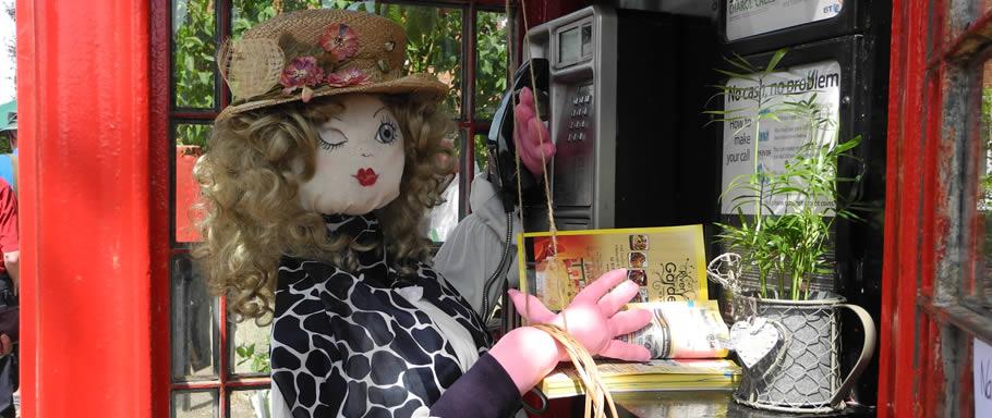 Milton Open Gardens scarecrow