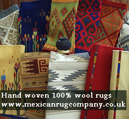 Advertisement for the Mexican Rug Company www.mexicanrugcompany.co.uk