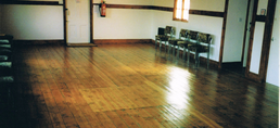 Image of the hall empty to show the space available
