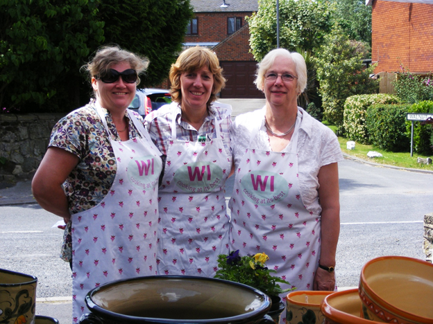 Three members of Milton WI at Milton Open Gardens