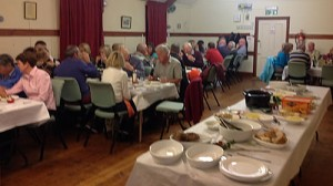 People eating Supper in Milton Village Hall Oct 4th 2013