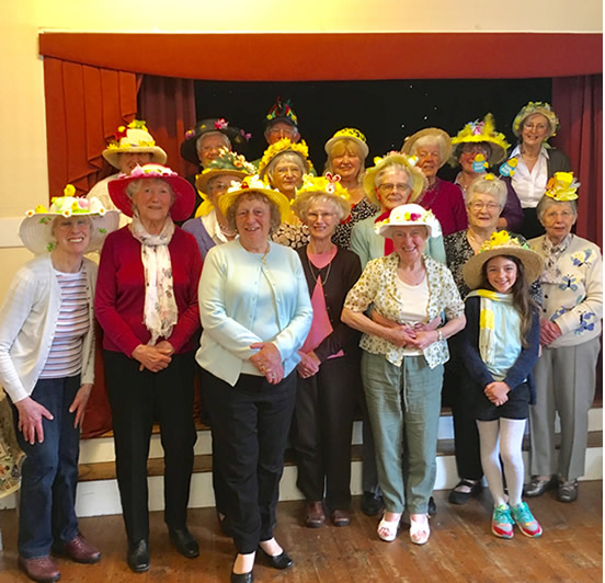 lunch club easter bonnet